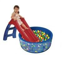 Сухой бассейн с шариками и горкой